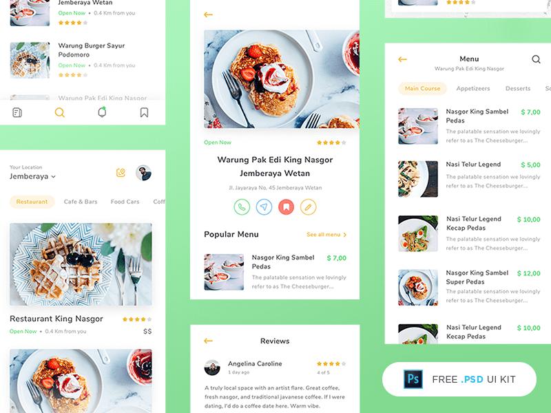 Restaurant App UI Kit cover image