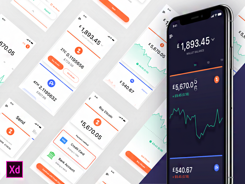 Dark style Cooin Crypto UI Kit cover image