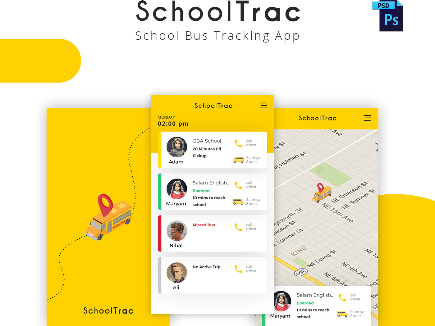 SchoolTrac - School Bus Tracking App cover image