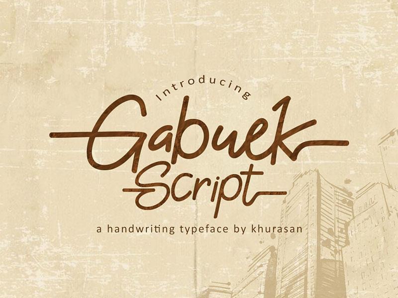Gabuek Script cover image