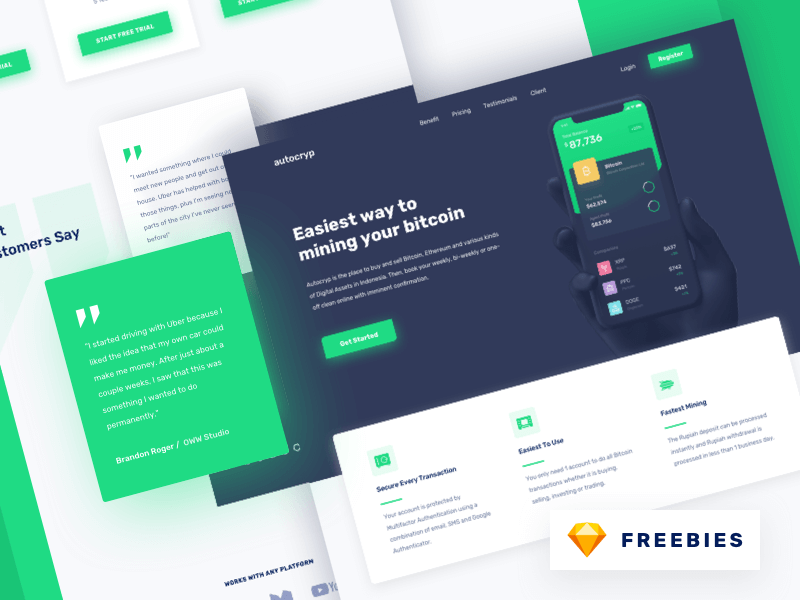 Freebies - Autocryp Landing Page cover image