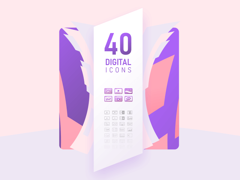 40 Digital Icons cover image