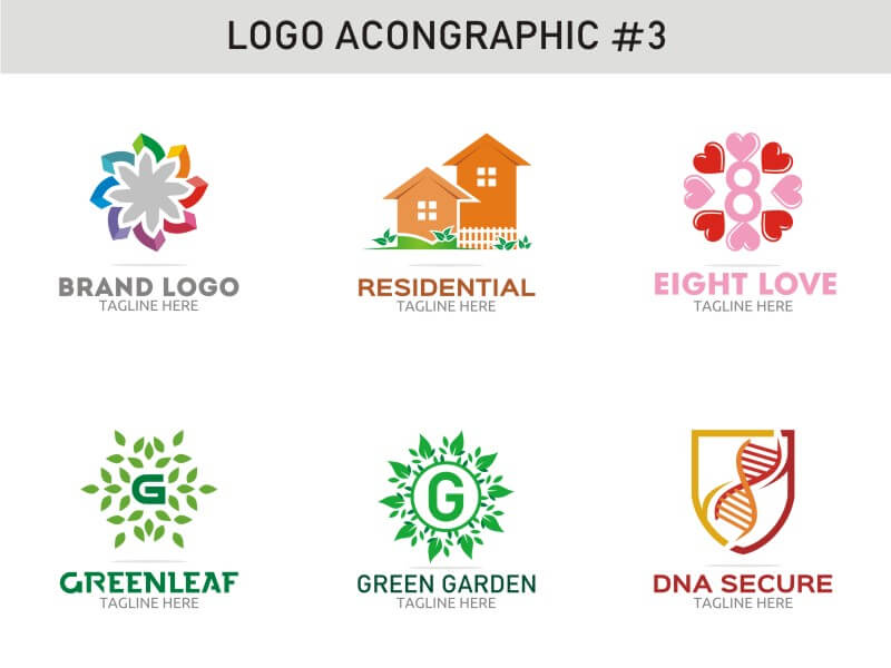 6 Modern Logo Template 3 cover image