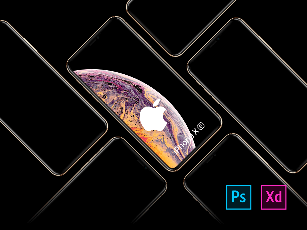 Free iPhone XS, XR, XS Max Mockups cover image