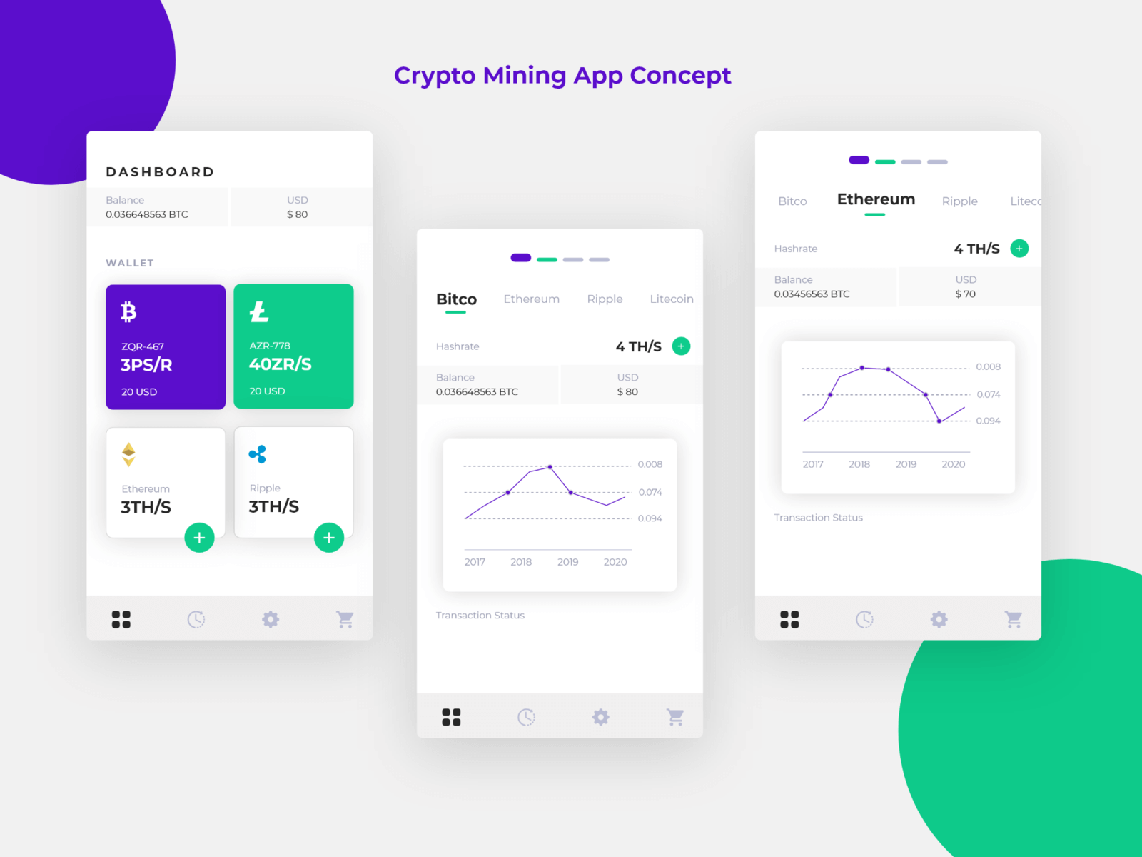 Crypto Mining App concept cover image