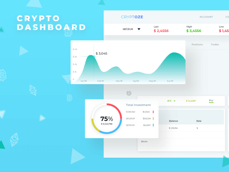 CryptOZE - Crypto Trade Dashboard Template cover image