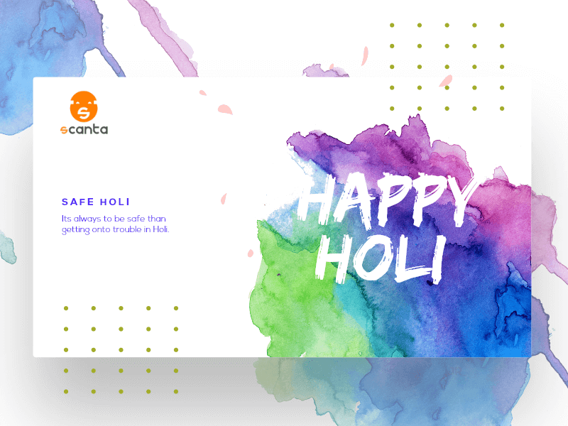 HOLI Design In Modern UI Pattern - Free Template cover image