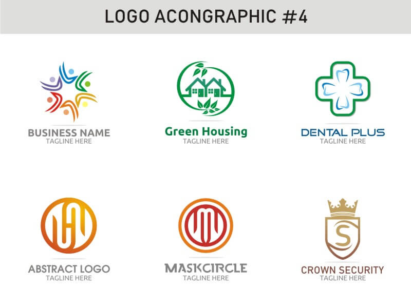 6 Modern Logo Template 4 cover image
