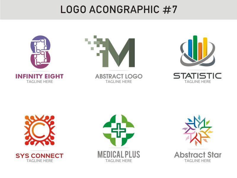 6 Modern Logo Template 7 cover image