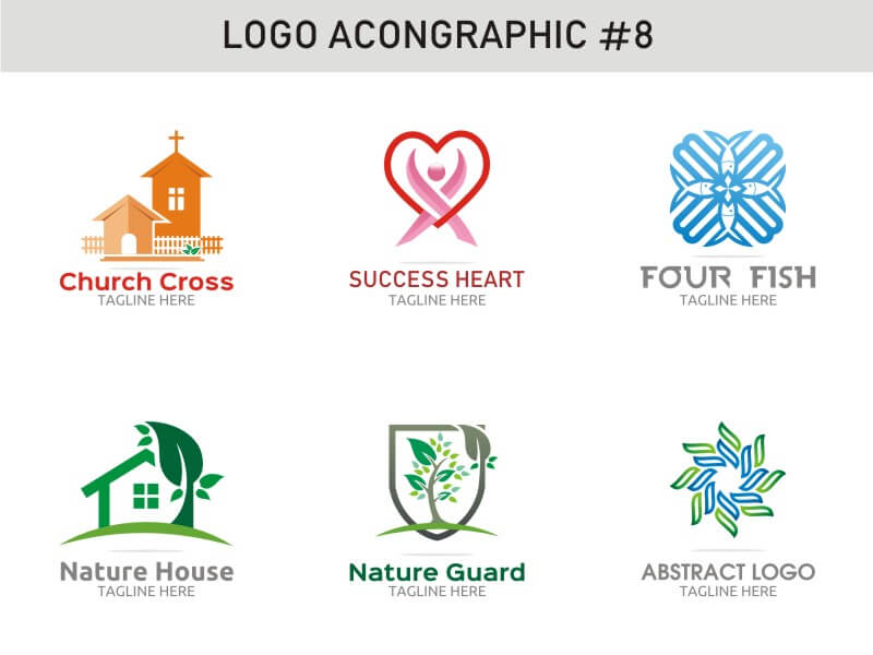 6 Modern Logo Template 8 cover image