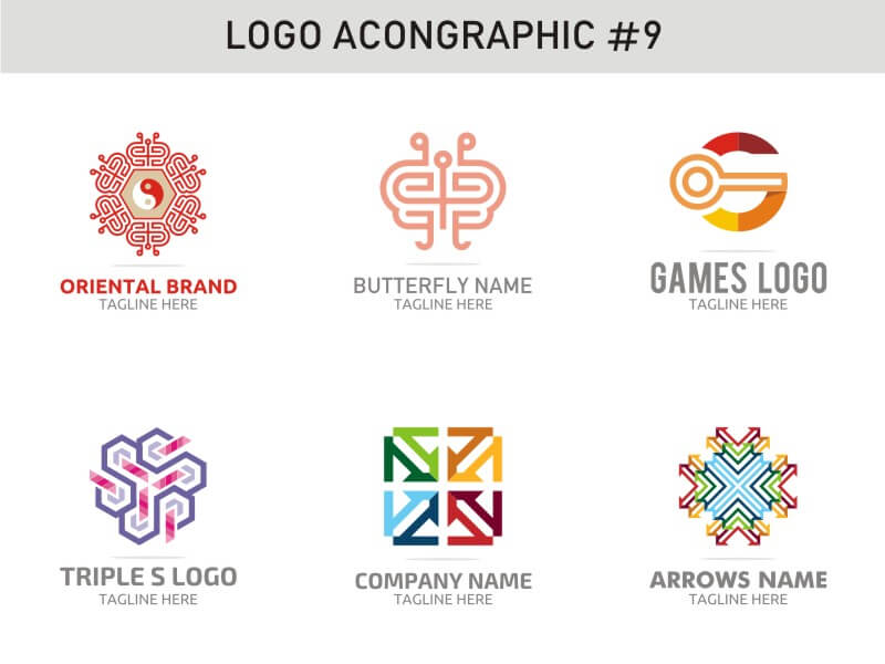 6 Modern Logo Template 9 cover image