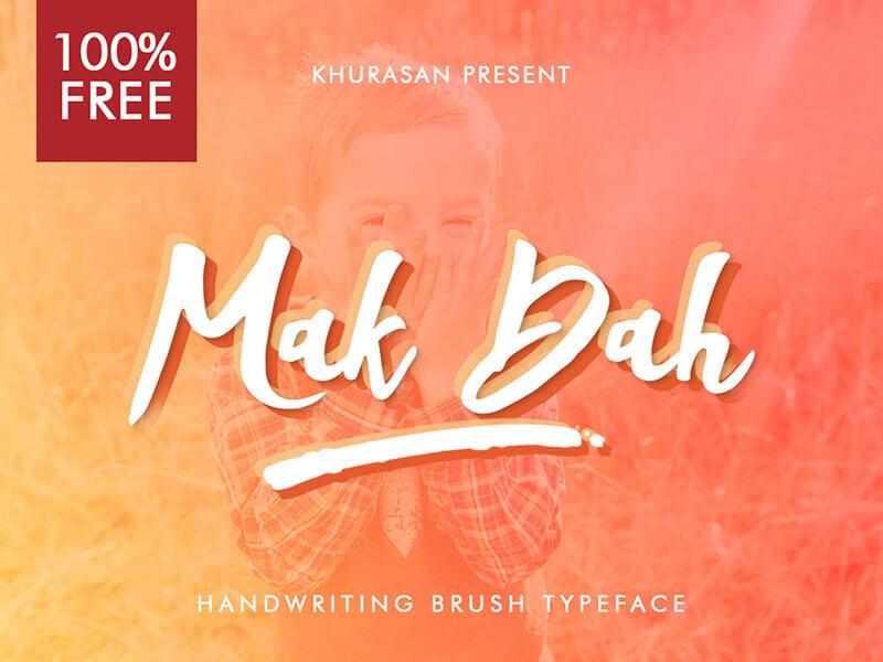 Mak Dah Brush Script Font cover image