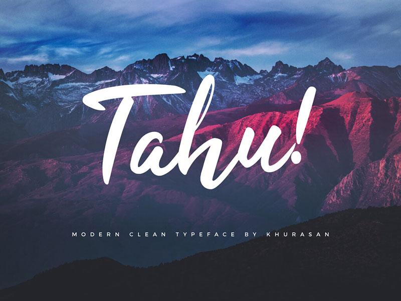 TAHU! - FREE SCRIPT FONT cover image