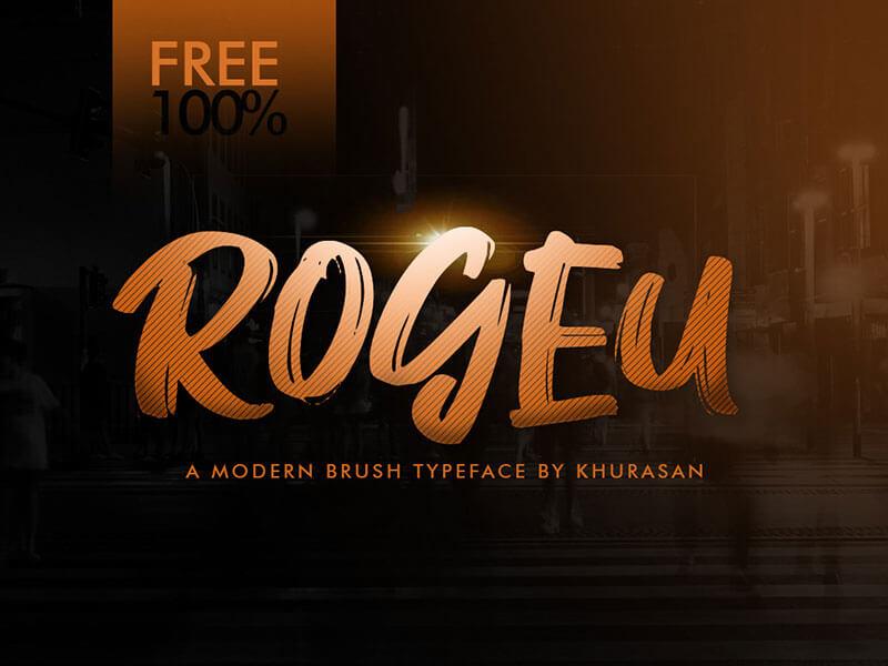 Rogeu Brush Font cover image