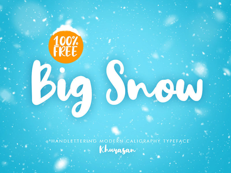 Big Snow Free Font cover image