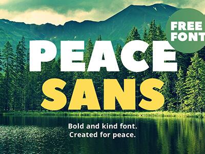 Peace Sans Free Font cover image