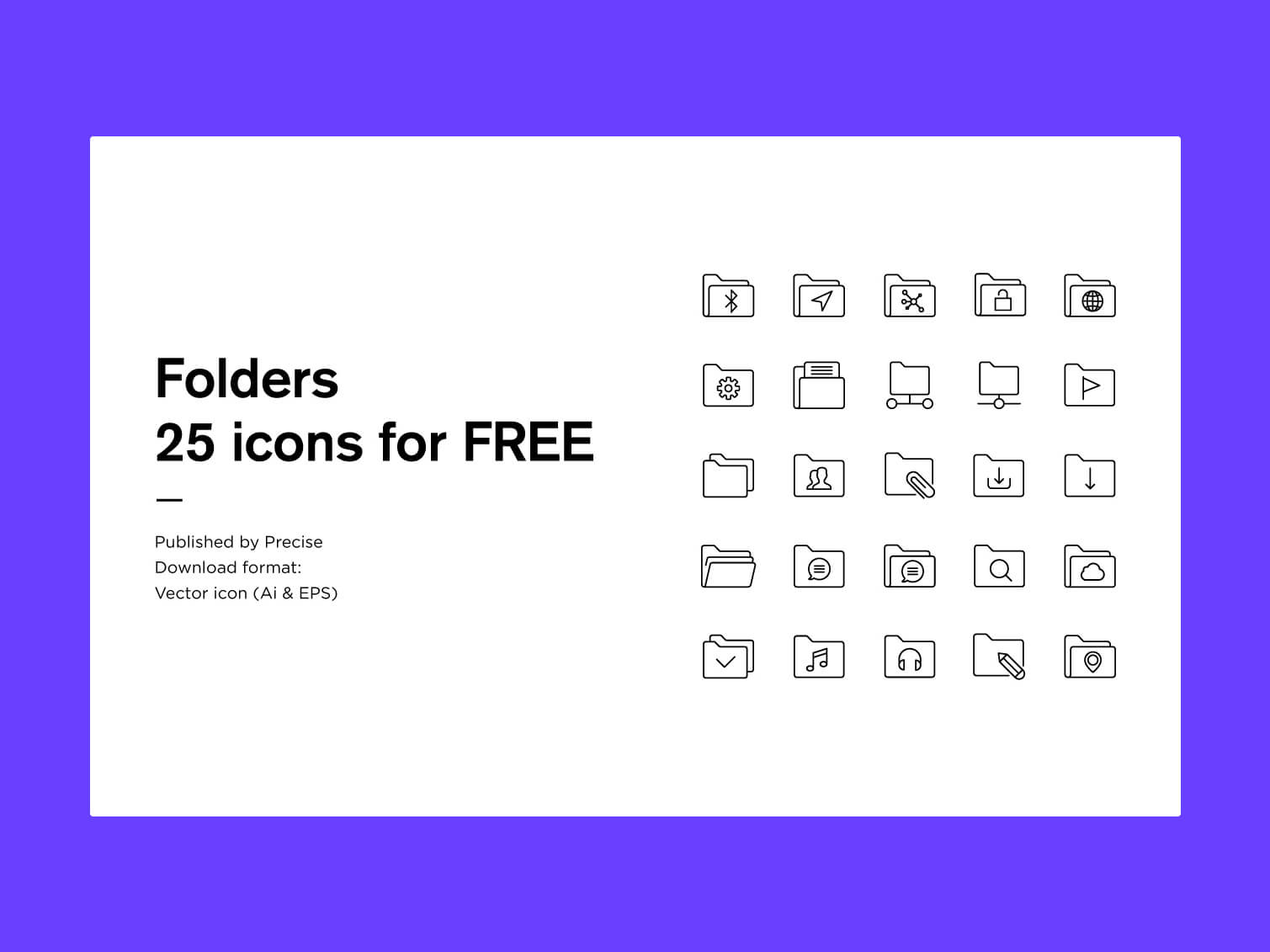 25 FREE icons cover image