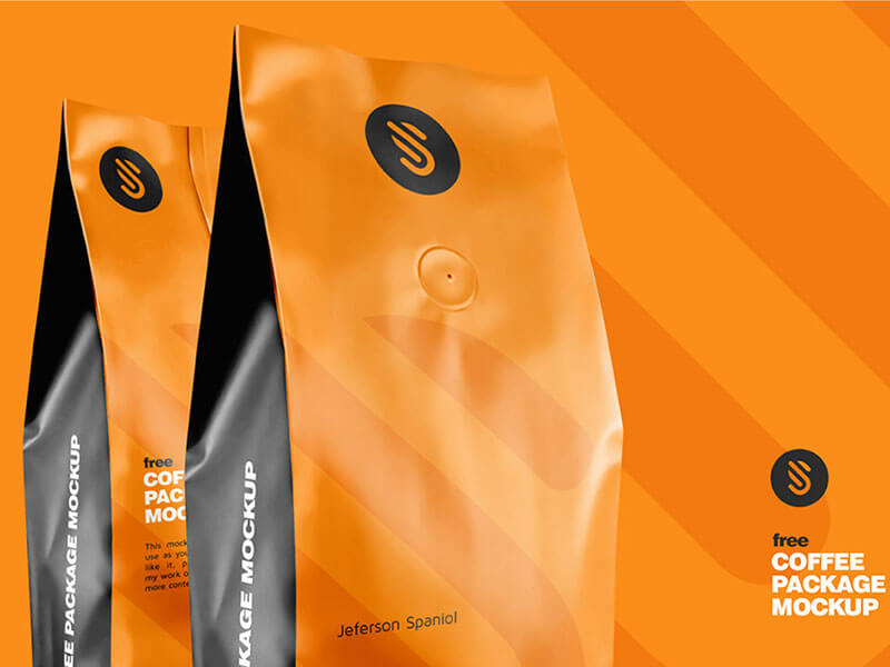 Free Coffee Package Mockup cover image