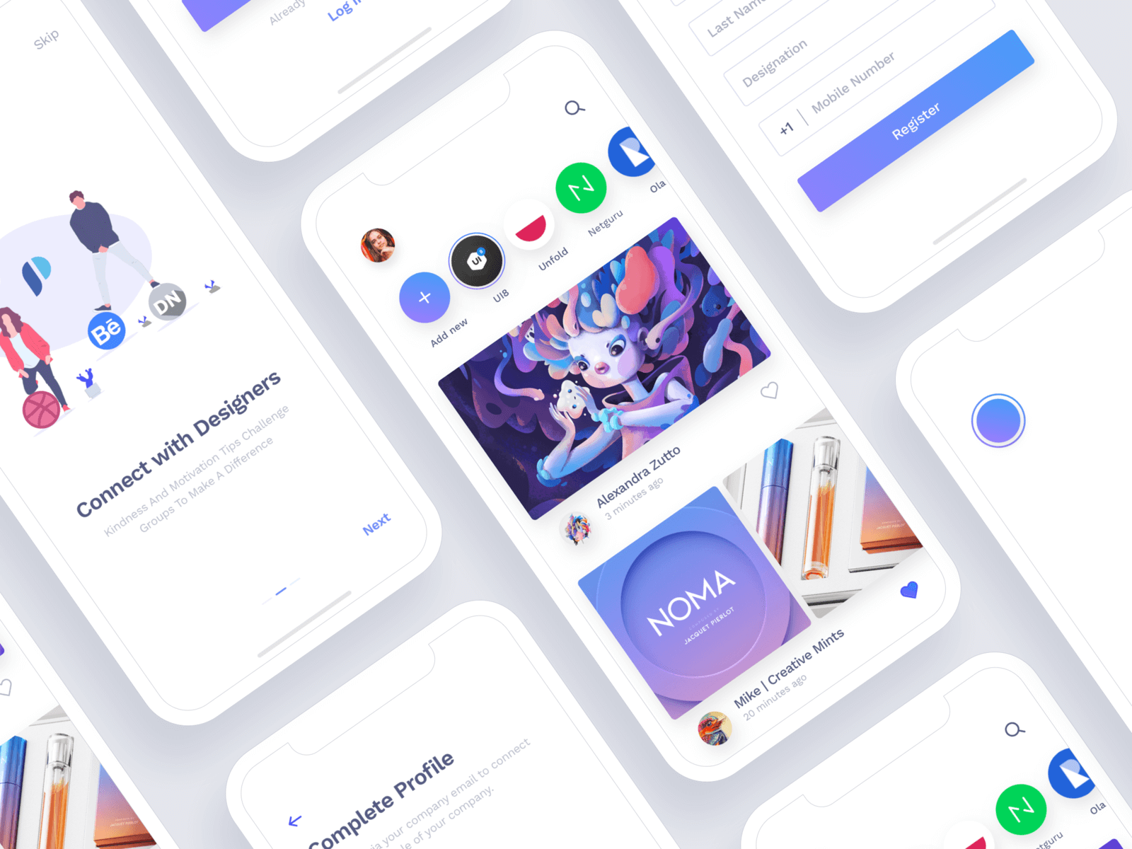 Social App For Designers cover image