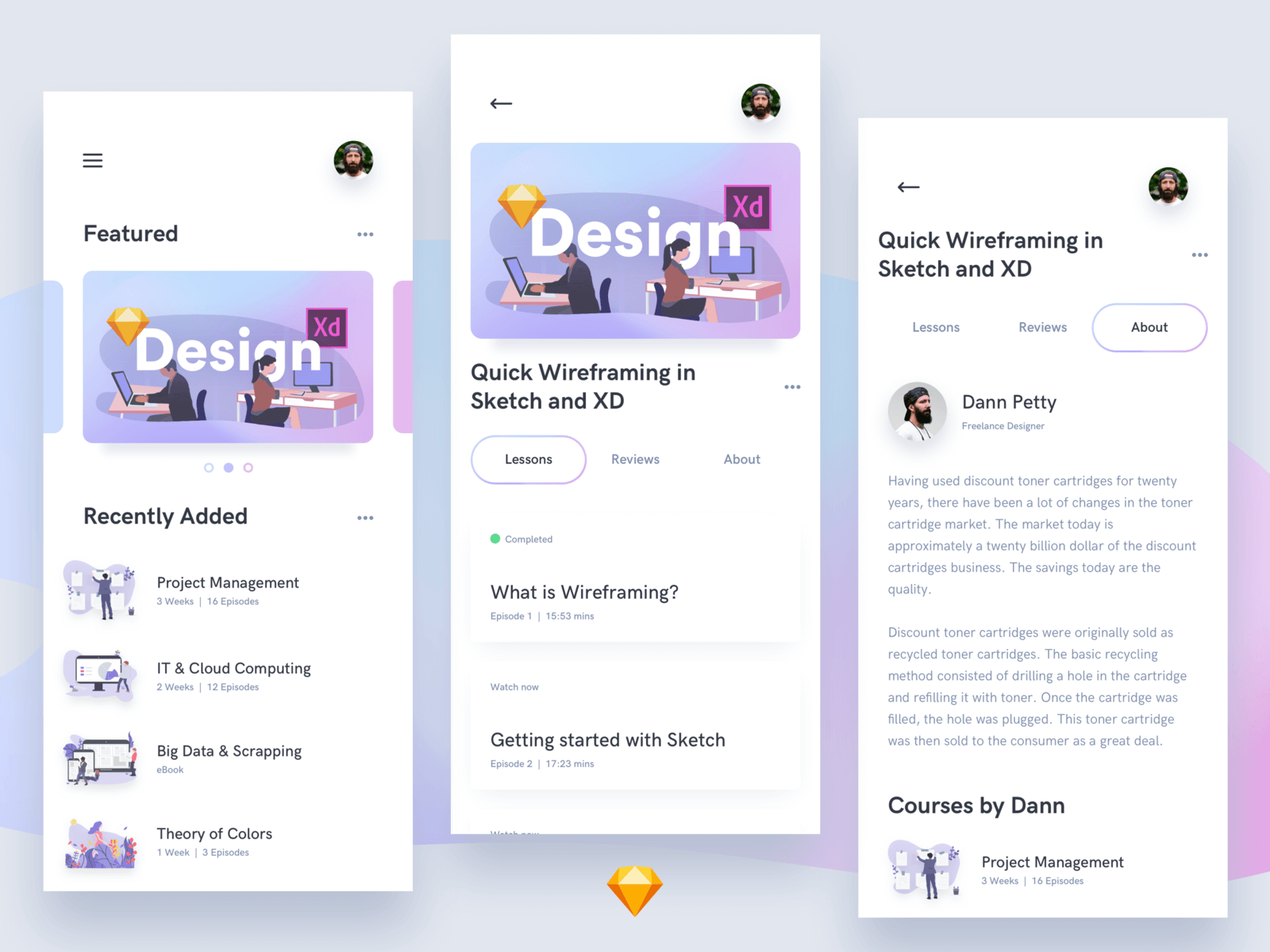 Online Courses UI Kit cover image