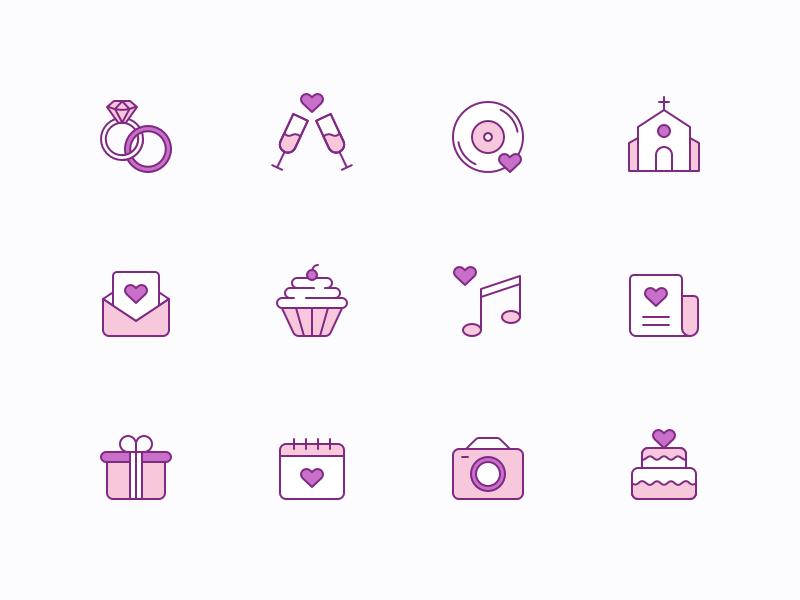 Free Wedding Icons cover image