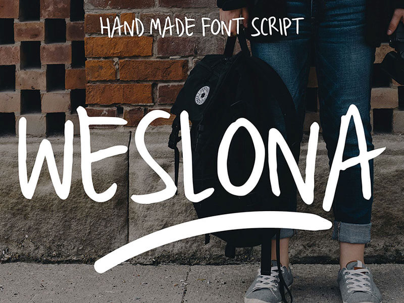 Weslona Free Font cover image
