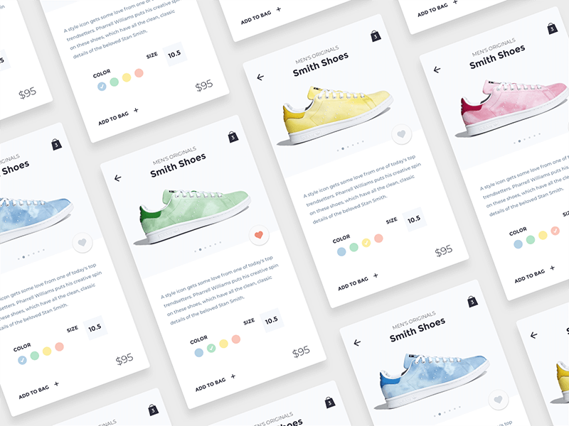 Shoes Store App Sketch Freebie cover image