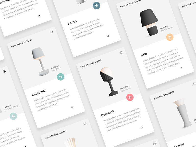 Product Cards Sketch Freebie cover image