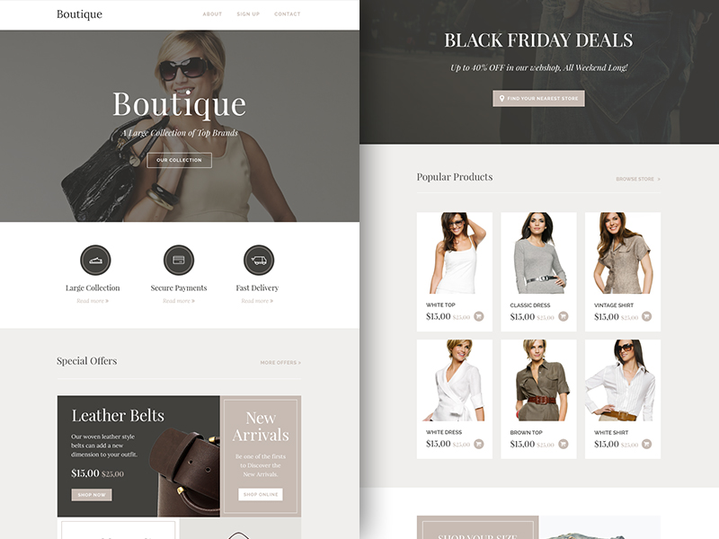 Freebie Boutique - Responsive Email Newsletter cover image