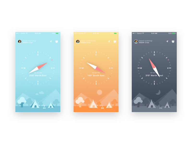 Compass UI and iPhone wallpapers freebie cover image