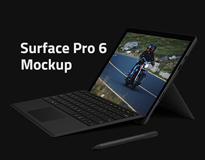 Surface Pro 6 Mockup cover image