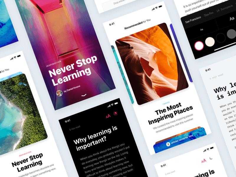 News App Concept Template - InVision Studio cover image