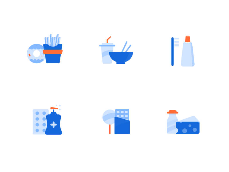 Grocery Free Icon Set cover image