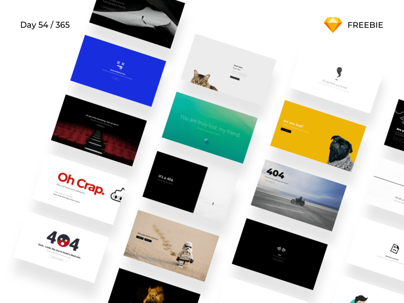 404 Error Pages - 20 Designs | Day 54/365 - Project365 cover image