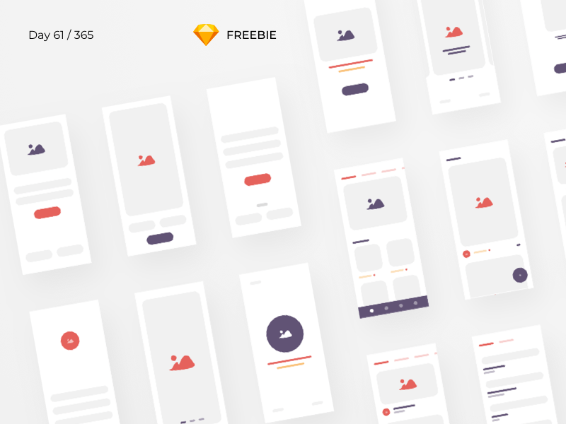 iBlocks - iOS Wireframe Kit | Day 61/365 - Project365 cover image