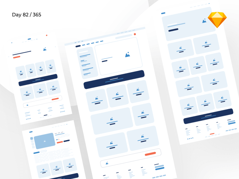 iComm - eCommerce Wireframe Kit | Day 82/365 - Project365 cover image