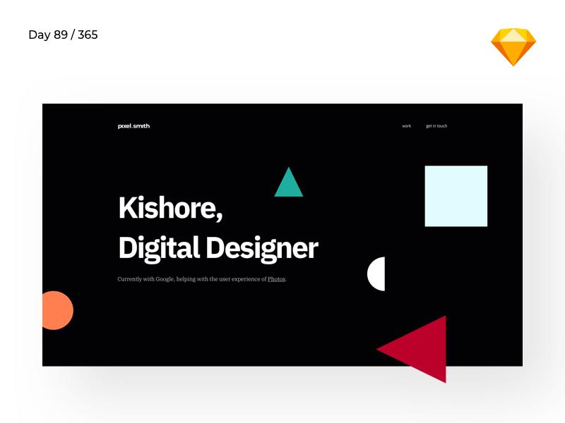 Designer Portfolio Template | Day 89/365 - Project365 cover image