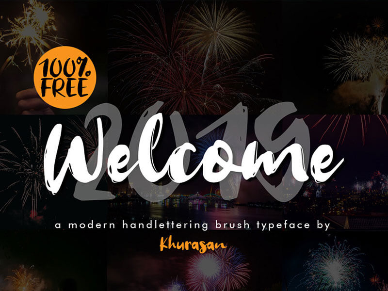 Welcome 2019 Font cover image