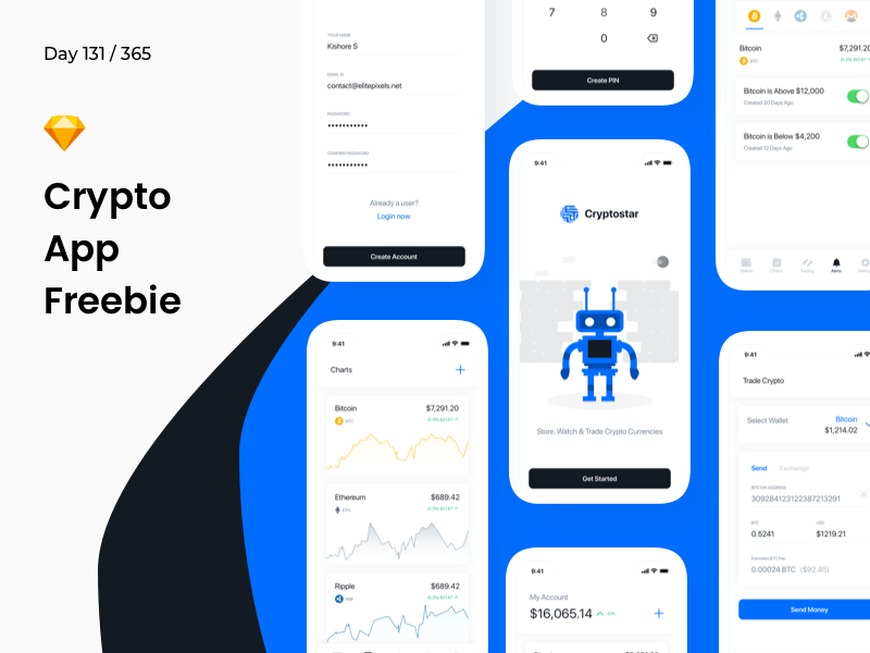 Crypto App - iOS UI Kit | Day 131/365 - Project365 cover image