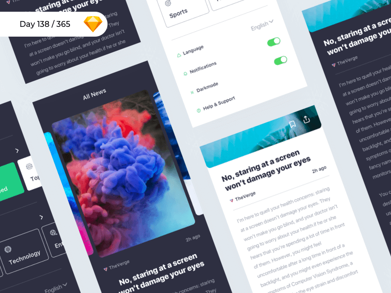 iNews - iOS UI Kit | Day 138/365 - Project365 cover image