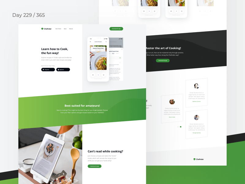 Recipes App Landing Page | Day 229/365 - Project365 cover image