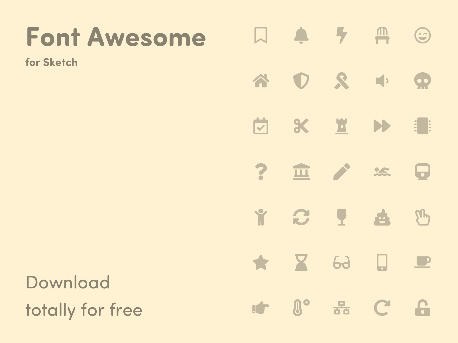 Font Awesome - Library for Sketch cover image
