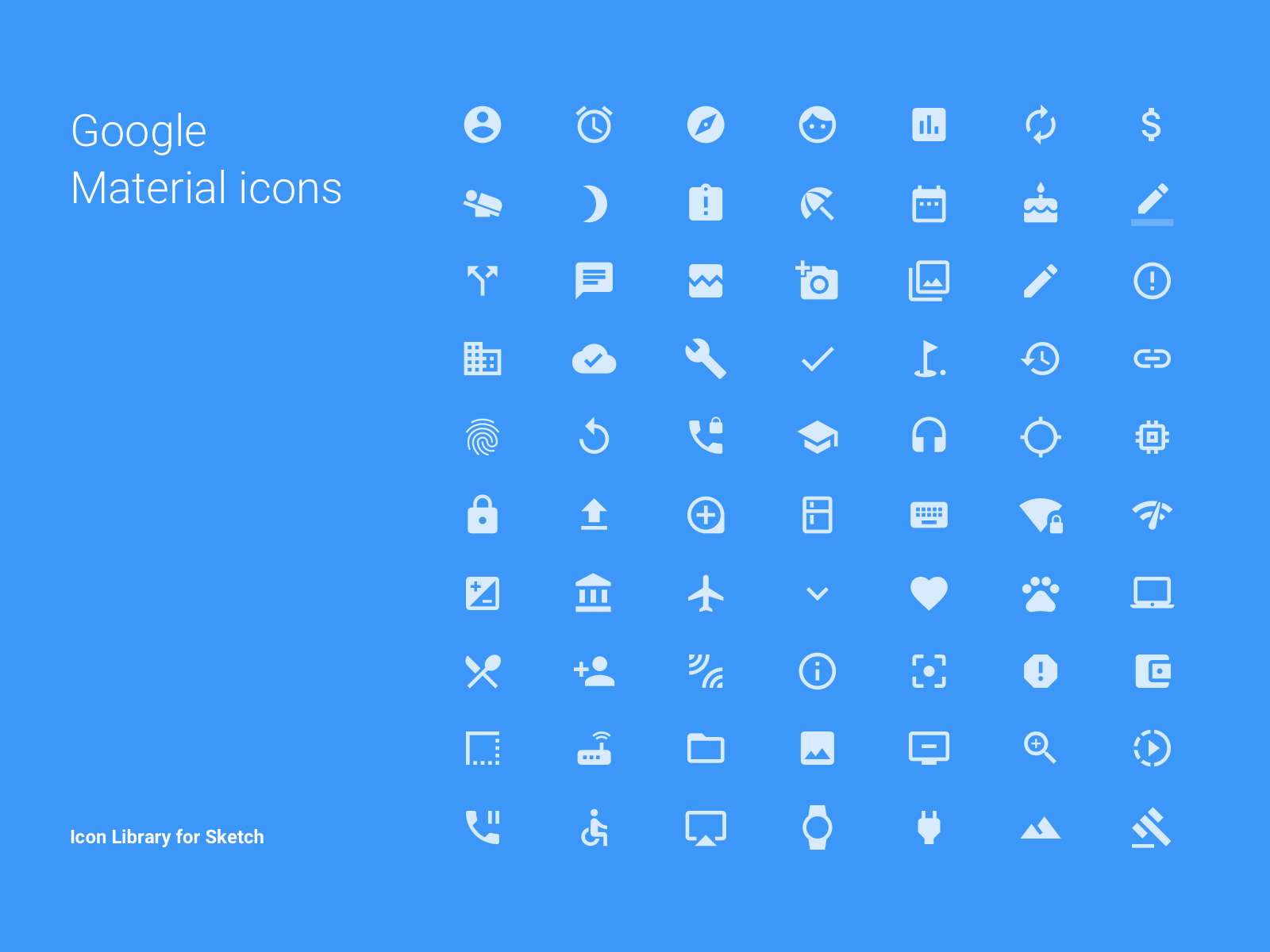 Google Material Icons - Library for Sketch cover image