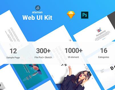 Ataman Web UI Kit - Templates For Sketch & Photoshop CC cover image