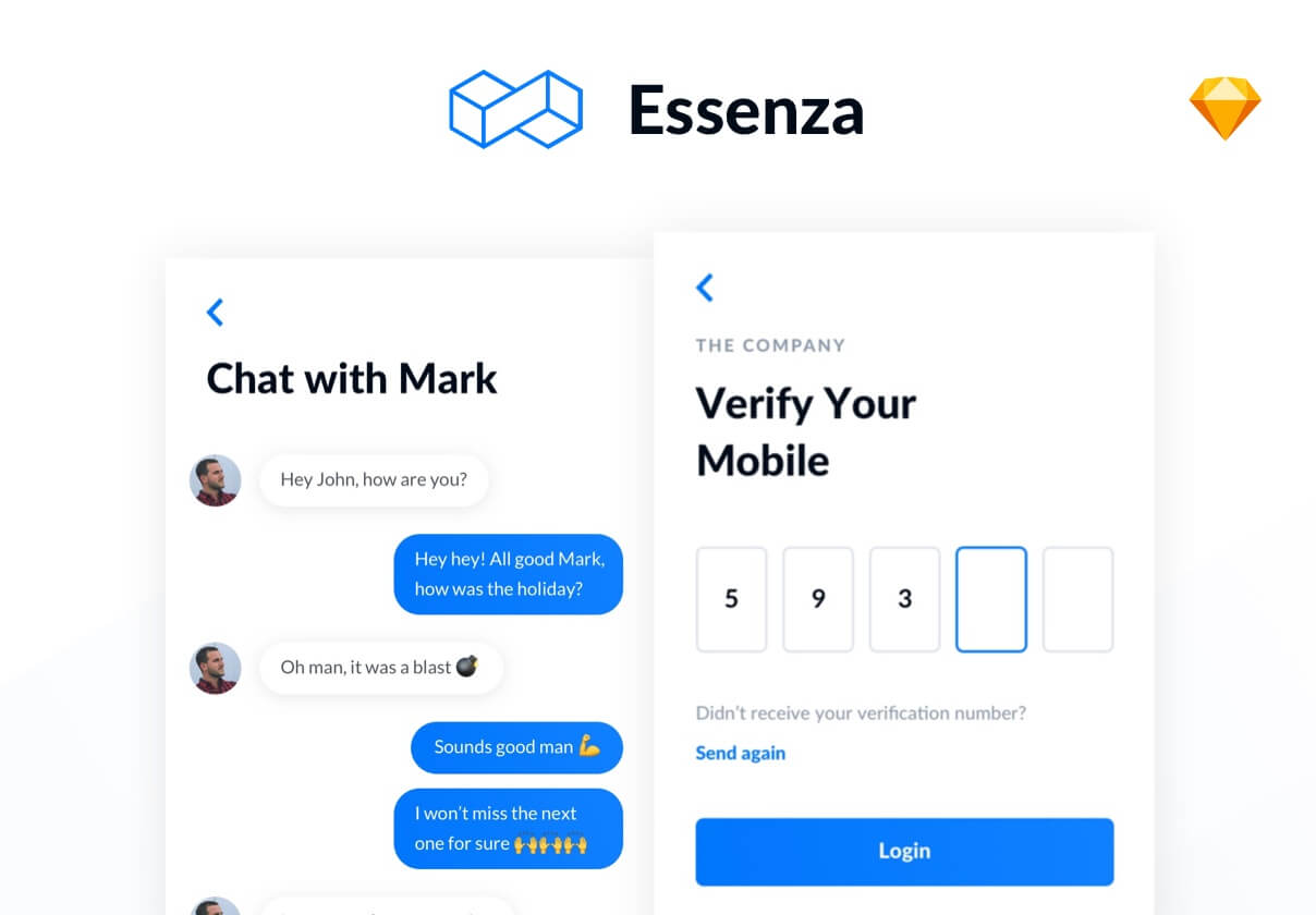 Essenza iOS UI Kit cover image