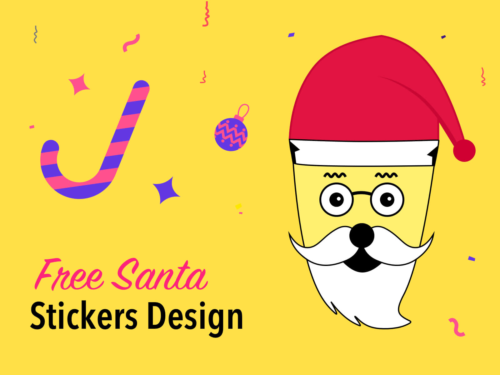 Christmas Santa Free Stickers cover image