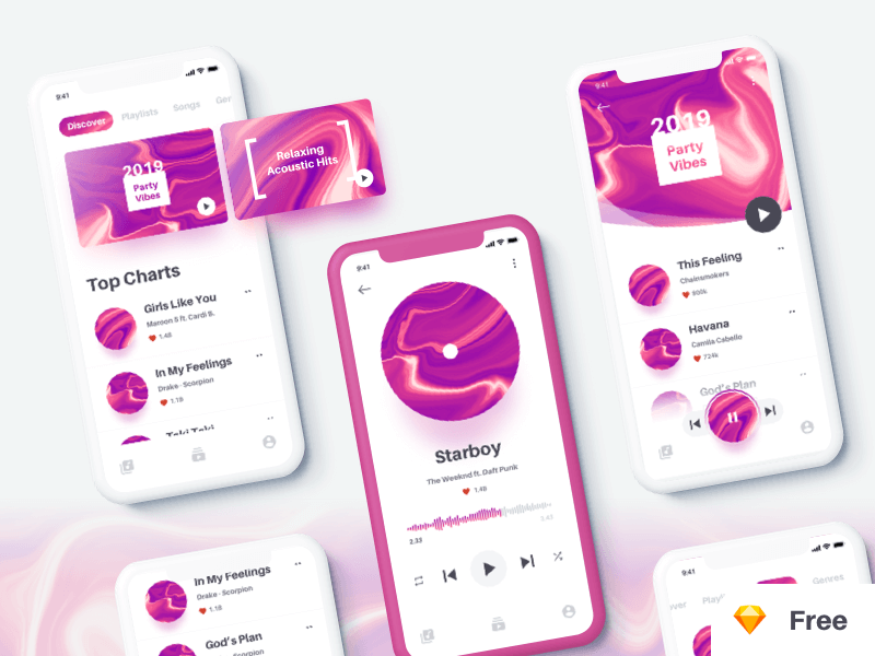 Music App UI Kit cover image