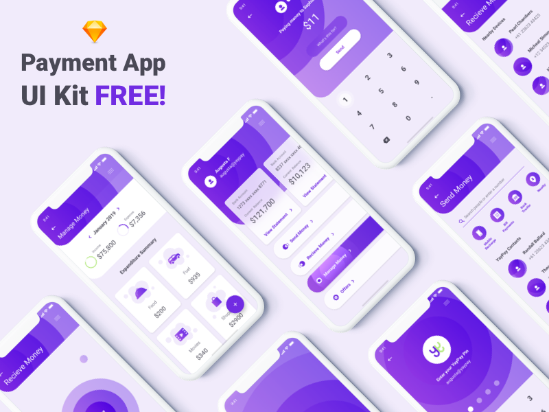 YayPay Payment App - UI Kit Free cover image