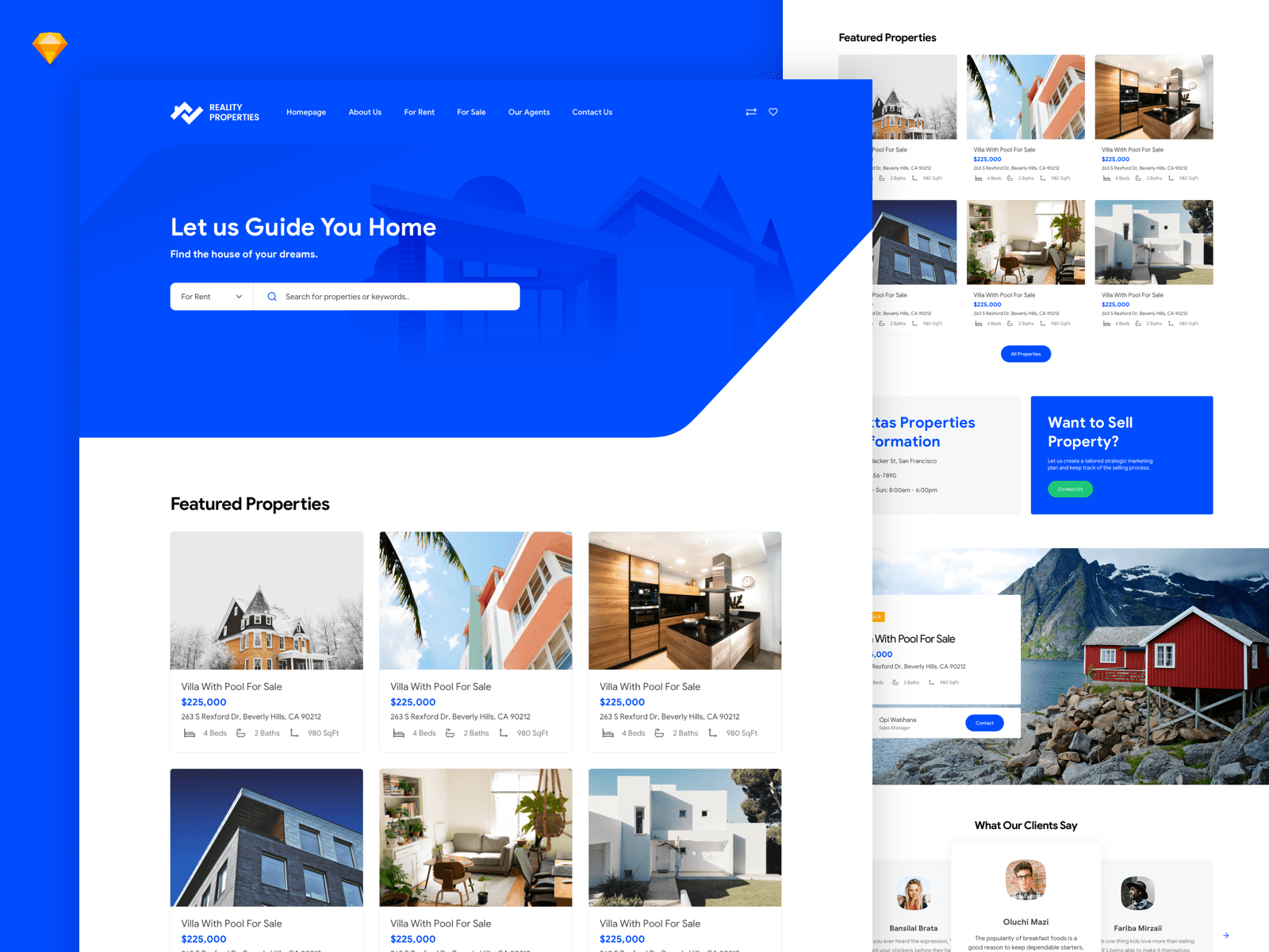 Local Real Estate Homepage [Sketch Freebie] cover image