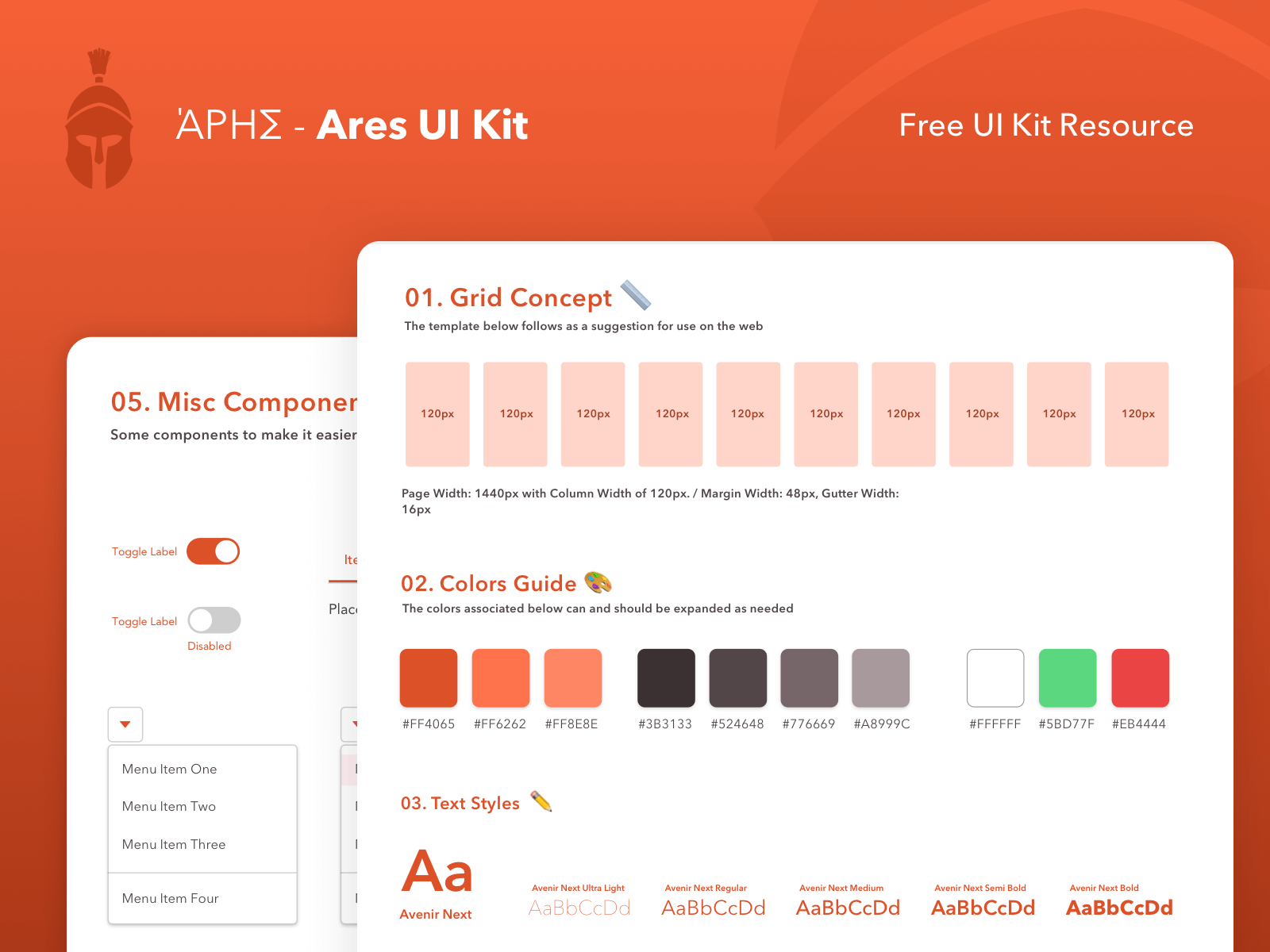 Ares Ui Kit - Free Resource cover image